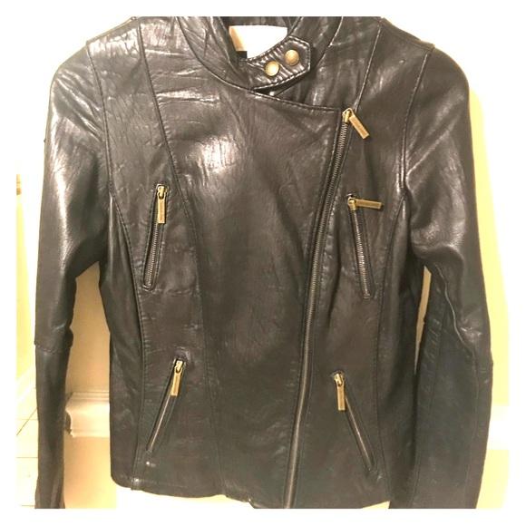 225b6f7d43d6 Women s Michael Kors leather moto jacket. M 5a8d0a9dc9fcdfd18bbc6c8b